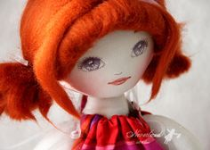 Ooak handmade cloth doll  art doll Lucy / Poupée by NeverlandBears on Etsy