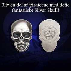 Mønthuset Danmark kan nu tilbyde dette Silver Skull, præget med en revolutionerende teknologi inden for moderne numismatik - smartminting.