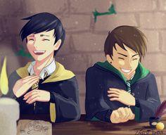 Dan and Phil / Harry Potter AU by Emolise.deviantart.com on @DeviantArt