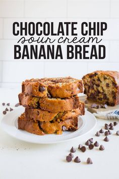 Chocolate Chip Banana Bread With Sour Cream - www.thirtyhandmadedays.com