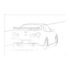 Nissan GTR, Fast and Furious 7, Step-by-Step Drawing