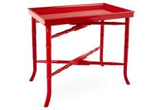 Jackie Tray Table, Red