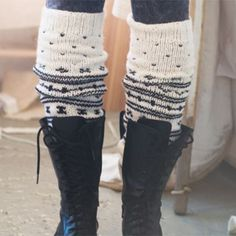 Excellent idea!  knit knee warmers for my wellies: Nordic By Nature - Leg Warmers