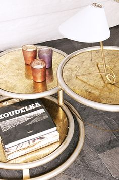 amazing gold accent table || so good it feels like art itself