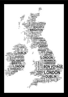 personalised country map uk australia thailand or italy word art print free uk pp