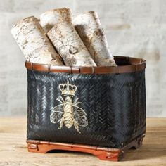 Bee Basket | Home Accessories | Ballard Designs