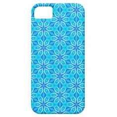 Aqua Snowflakes Abstract Spinning in Winter iPhone 5 Cases