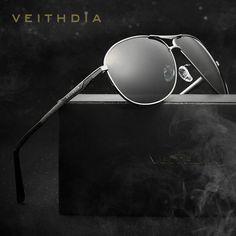 bb8033966cf Veithdia Polarized Lens Mens Sun Glasses Oculos masculino Male Gold Sunglasses  Men Summer Style Eyewears Accessories