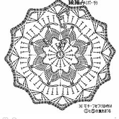 Round motifs for napkin, tablecloth, blanket, blouse...