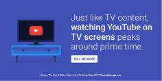 The Rise of Online Video on the TV Screen Think With Google, Prime Time, Watches Online, Insight, Online Video, Content, Tv, Screens, Youtube