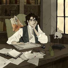 Victor Frankenstein, an art print by Abigail Larson Art And Illustration, Fantasy Kunst, Fantasy Art, Dark Fantasy, Character Inspiration, Character Art, Abigail Larson, Gothic Artwork, Victor Frankenstein