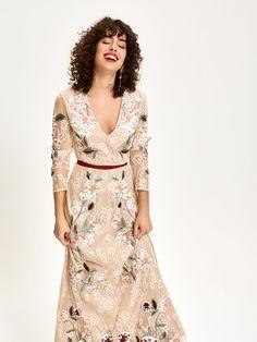 061f79b91 CUARZO - Vestido Encaje Bordado - MIOH Vestidos para invitada de boda