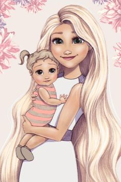 Which Disney Princesses Had Kids?: See Disney Princesses Drawn as Moms - M Magazine Disney Magic, Disney Art, Disney Movies, Disney Pixar, Walt Disney, Disney Characters, Disney Rapunzel, Female Characters, Every Disney Princess
