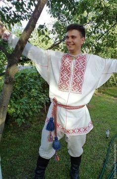 РУБАХА МУЖСКАЯ ОБРЯДОВАЯ - рубашка,рубаха русская,Вышиванка,русская народная одежда
