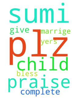 Praise the lord,      my name is Sumi,          plz - Praise the lord, my name is Sumi, plz pray for me my marrige 5yers complete but no child I Request you pray for me god give me a child plz. Thank you, God bless you  Posted at: https://prayerrequest.com/t/Njl #pray #prayer #request #prayerrequest