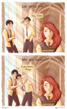 Nope she didn't 'cause she knew snape doesn't wash his hair 😂🤣 Harry Potter Anime, Harry Potter Comics, Harry Potter World, Memes Do Harry Potter, Estilo Harry Potter, Arte Do Harry Potter, Harry Potter Artwork, Harry Potter Ships, Harry Potter Drawings