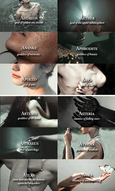 "Mythology: ""Titans, Greek Gods and Primordial Deities "" Greek Gods And Goddesses, Greek And Roman Mythology, Titans Greek Mythology, Greek Myth Names, Greek Goddess Mythology, Roman Mythology Names, Greek Names And Meanings, Greek Mythology Quotes, Apollo Mythology"
