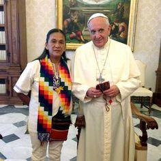 Milagro Sala tuvo una audiencia privada con el Sumo Pontífice, en junio de 2014.