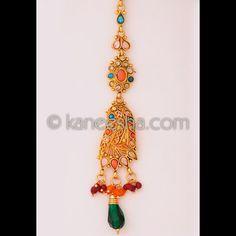 Goldplated Multicolor Mang Tikka Price: Usa Dollar $21, British UK Pound £12, Euro15, Canada CA$23 , Indian Rs1134.