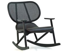 klara rocking chair with cane back by Patricia Urquiola for Moroso