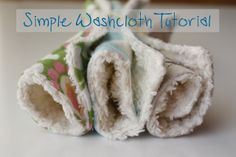 Beginner-level sewing tutorial: Simple Washcloth Tutorial by Ruby of Zaaberry, 28 Jan. 2012, made of cotton chenille and cotton flannel. Soft enough for baby use. #giftidea #stashbuster #fabric #scrap
