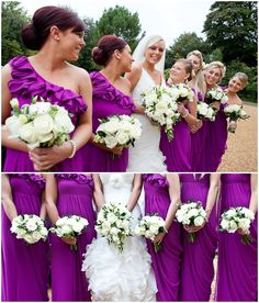 LoveLuxeBlog Real Life Weddings - love that color!