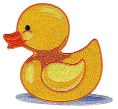 Cute Baby Duckies Machine Embroidered Quilt Blocks