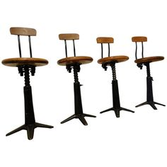 Charmant Vintage Industrial Singer Work Chairs Stool By Simanco | From A Uniqueu2026
