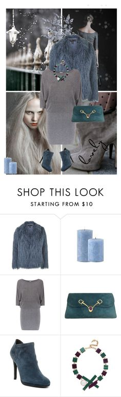 """""""Winter moments"""" by murenochek ❤ liked on Polyvore featuring Topshop, Reiss, Stuart Weitzman, Eshvi, Winter, cozy, grey, fur and winterstyle"""