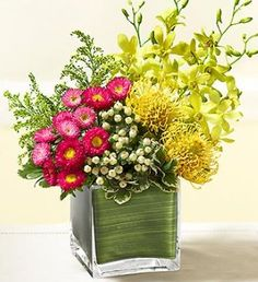 contemporary fresh flower arrangements   1800-Flowers Modern Expressions Collection: New Flower Arrangements!