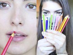La moda de maquillarse con rotuladores, una práctica muy peligrosa