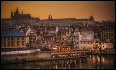 Prague by Václav Verner Czech Republic, Prague, Fujifilm, Paris Skyline, Vacations, City, Gallery, Travel, Holidays