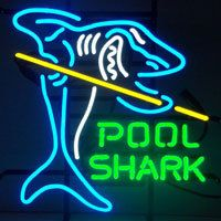 "Pool Shark Game Room Snooker Man Cave Bistro Beer Bar Pub Neon Sign 17/""x15/"""