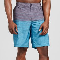 Men's Big & Tall Colorblock Hybrid Shorts - Mossimo Supply Co. Turquoise