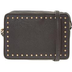 Black Studded Cross Body Bag - Handbags - Accessories - Women - TK Maxx Crossbody Wallet, Purse Wallet, Handbag Accessories, Women Accessories, Tk Maxx, Cross Body, Handbags, Purses, Leather