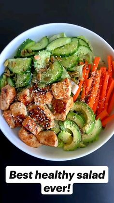 Lunch Meal Prep, Healthy Meal Prep, Healthy Salads, Easy Healthy Lunch Ideas, Simple Healthy Meals, Healthy Dinner Recipes, Healthy Lunches, Healthy Cooking, Healthy Foods