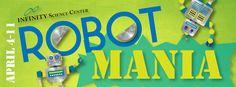 Robot Mania at INFINITY during National Robotics Week! #OmgRobots!