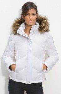 Shop Women's Calvin Klein Jackets on Lyst. Track over 3569 Calvin Klein Jackets for stock and sale updates. Wedding Jacket, Fur Trim, White Women, Faux Fur, Calvin Klein, Bomber Jacket, Winter Jackets, My Style, Clothes