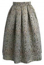 Glamorous Feather Jacquard Midi Skirt