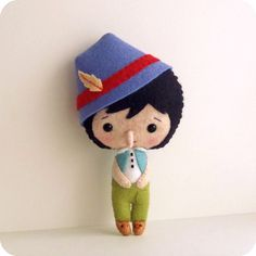 Pinocchio pdf Pattern by Gingermelon on Etsy. Could be Peter Pan with a normal nose & the right colors
