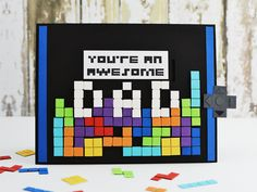 Our Change of Art: pixels, pixels, everywhere.... -- CUTE Father's Day Card Tutorial