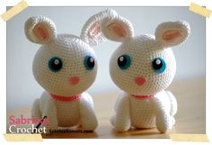 """""""With this pattern you can make your own cute bunny. All stitches you need to know to make the bunny are: magic ring, single crochet, slipstitch, chain and half double crochet. """""""