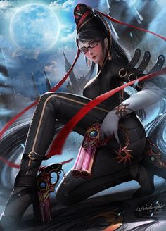 Bayonetta by TUREwindwalker on DeviantArt Nintendo Characters, Video Game Characters, Female Characters, 90s Video Games, Video Game Art, Bayonetta, Overwatch, Geeks, The Legendary Witch