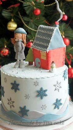 Christmas cake Cake by hrisiv
