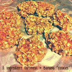 2 Ingredient Oatmeal and Banana Cookies ! Nolan approved quick and easy healthy homemade snack!