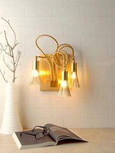 Creative Nordic Loft Bedside Wall Sconce Lights Hotel Bedroom Corridor Metal Gold Wall Lamp Loft Nordic Wall Decor Lighting For Home Rich In Poetic And Pictorial Splendor Lights & Lighting Led Lamps