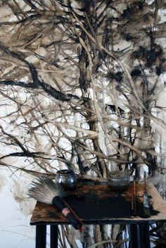 "artpropelled: "" The studio of Claire Basler """