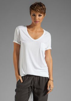 T by Alexander Wang White Tee | Revolve Clothing; Call me crazy but this is the style I want to move toward.....
