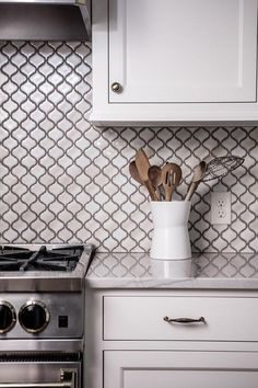 Bianco Carrara Arabesque Polished Mosaic Tile Mosaics And Kitchens