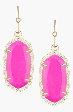 Kendra Scott 'Dani' Stone Drop Earrings available at #Nordstrom .... not the pink ones.